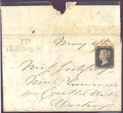 1840 1d black rare stamp