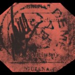 british guiana printed rare stamp